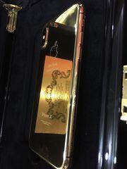 Apple iPhone X 256GB Black,  24karat Gold Special Edition
